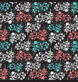 floral vintage seamless pattern for vector image