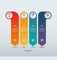 infographic options banner 4 vertical arrows vector image