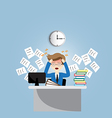 Overworked businessman vector image