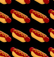Hot dog isometric seamless patern Fast food 3D on vector image