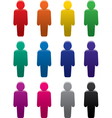 People stand color symbols set Vector Image