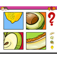 educational activity with fruits vector image