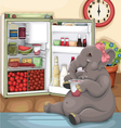 Elephant Glutton vector image vector image