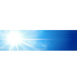 Banner panorama background blue sunny sky vector image