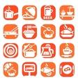 color food icon set vector image vector image
