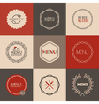 Labels set for restaurant menu design vector image