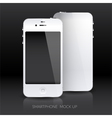 White smartphone mock up vector image