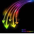 abstract bright background with arrows vector image vector image