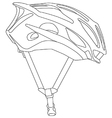 Cycle helmet vector image