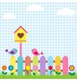 Birds and birdhouse vector image