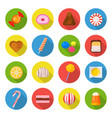 candy icon set vector image