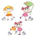 Cartoon Girl set vector image