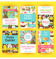 Easter Greeting Template Invitation Set in Modern vector image