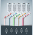 five cocktail tube - business infographic vector image