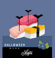 nighiri halloween menu vector image