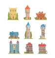 Old And Medieval Historical Buildings Collection vector image
