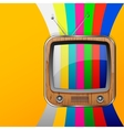 TV no signal background vector image