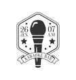 Microphone In Frame Karaoke Premium Quality Bar vector image