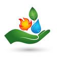 renewable energy symbol vector image vector image