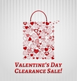 Shopping bag for Valentines day vector image vector image