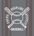 baseball respect vector image