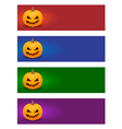 Colorful halloween banners vector image