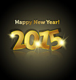 mirroring golden 2015 year with lighting star vector image