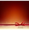 Elegant Christmas Red background with Red bow and vector image vector image