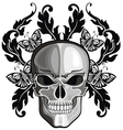 Skulls with floral patterns vector image