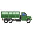 cargo truck 14 vector image