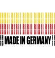 Made in Germany text and bar code from same words vector image