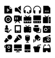 Multimedia Icons 10 vector image