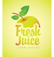 fresh juice with a picture apple vector image vector image