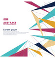 abstract lines triangle modern technology design vector image