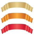 banners ribbons set vector image