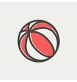 Beach ball thin line icon vector image