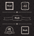 Blackboard frames and design elements vector image