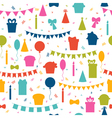 Happy Birthday seamless pattern with colorful vector image