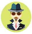 icon man spy in a flat style image on a vector image