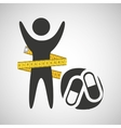 lose weight concept sport medicine vector image