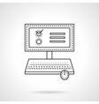 Online voting flat line icon vector image