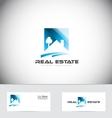 Real estate house roof logo design vector image