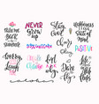 summer lettering typography big set vector image