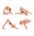 yoga pose funny cartoon character vector image