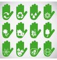 Ecological hands vector image vector image