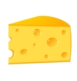 A piece of cheese on a white background vector image vector image