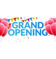 Grand Opening event invitation banner with vector image