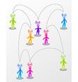 Speech social media interaction vector image vector image