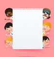back to school and education concept happy vector image