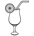 Symbol cocktail vector image vector image